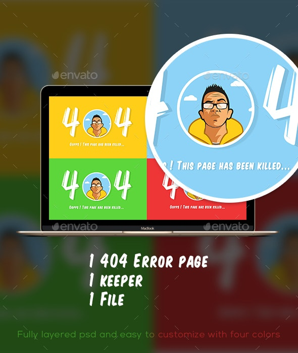 The 404 Error keeper - 404 Pages Web Elements
