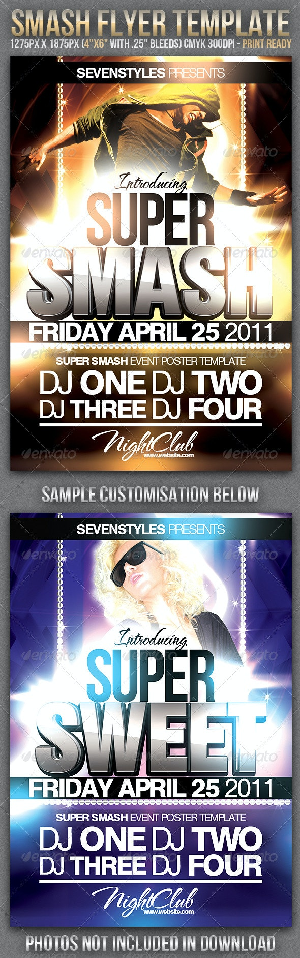 Smash Flyer Template - Clubs & Parties Events