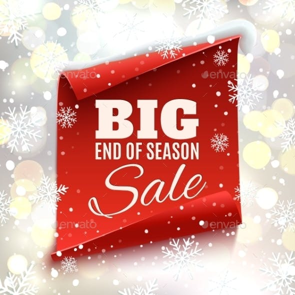 Big End Of Season Sale Poster.