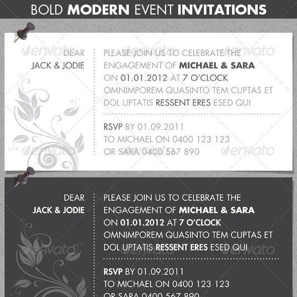 Bold Modern Event Invitations
