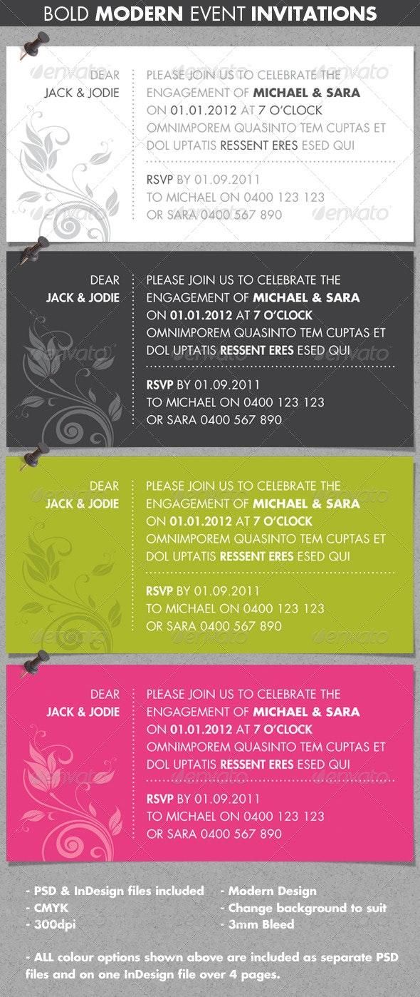Bold Modern Event Invitations - Invitations Cards & Invites