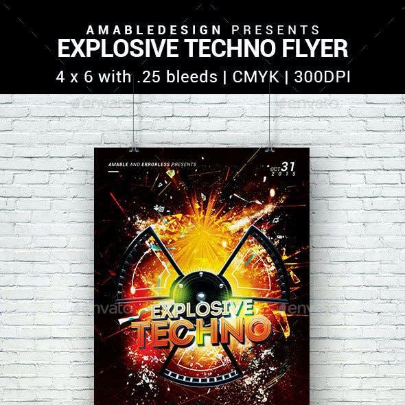Explosive Techno Flyer