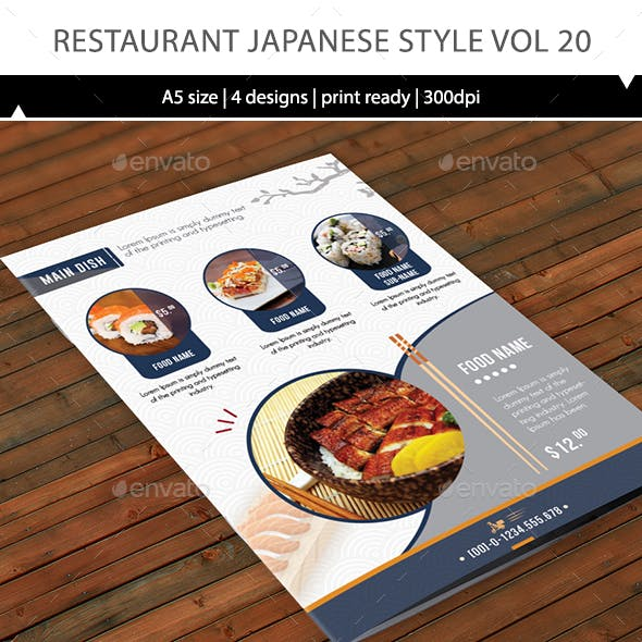 Restaurant Menu Vol 20