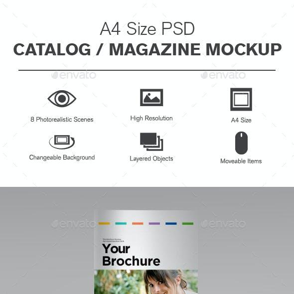 A4 Catalog / Brochure Mockup