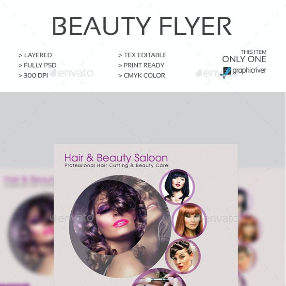 Hair & Beauty Saloon Flyer