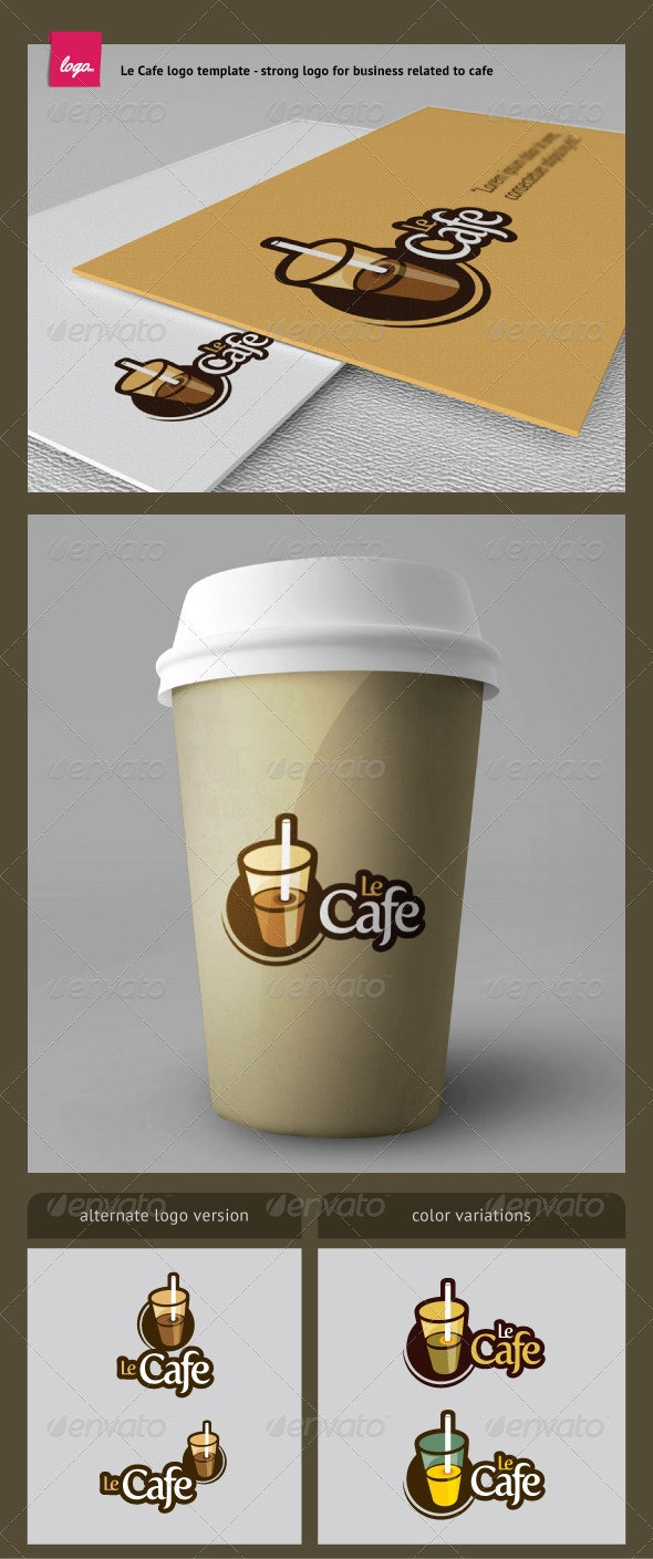 Le Cafe Logo Template - Objects Logo Templates