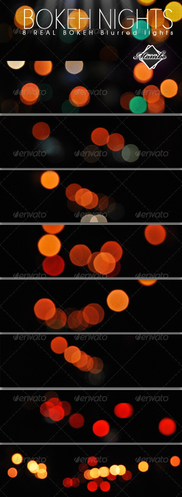 Bokeh Nights - Real blurred lights - Abstract Textures