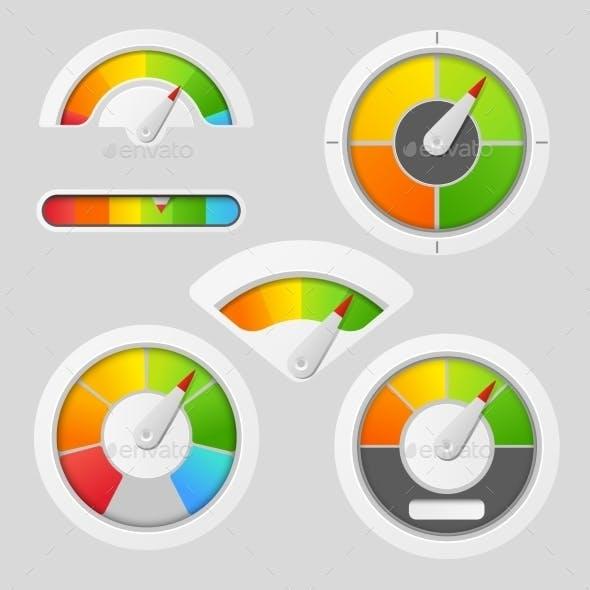 Gauge Chart Meter Elements