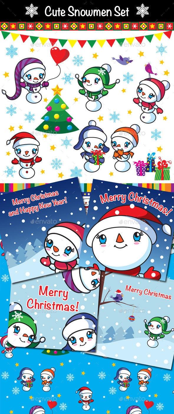 Snowmen Xmas Set - Seasons/Holidays Conceptual