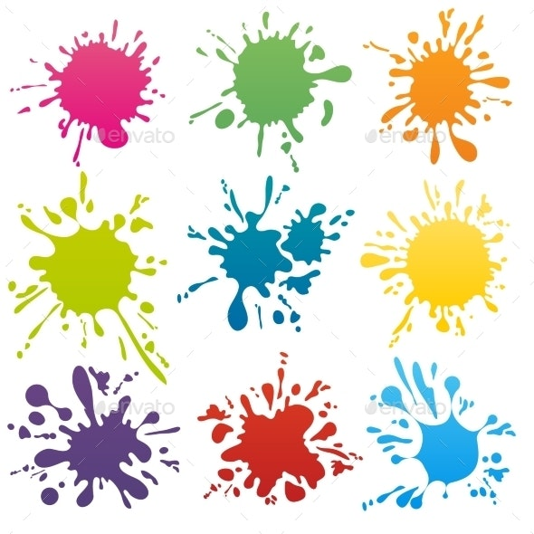 Colorful Ink Spots Set - Miscellaneous Vectors