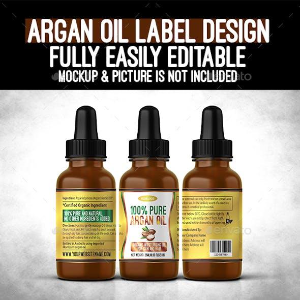 Argan Oil Bottle Label