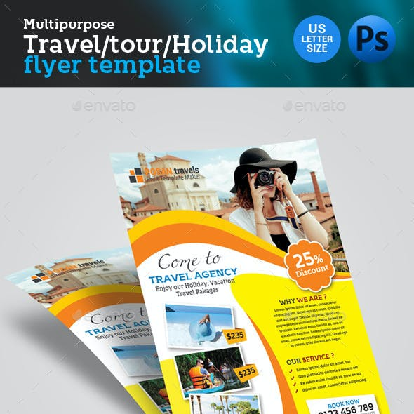 Travel Tour Tourism Agency Flyer