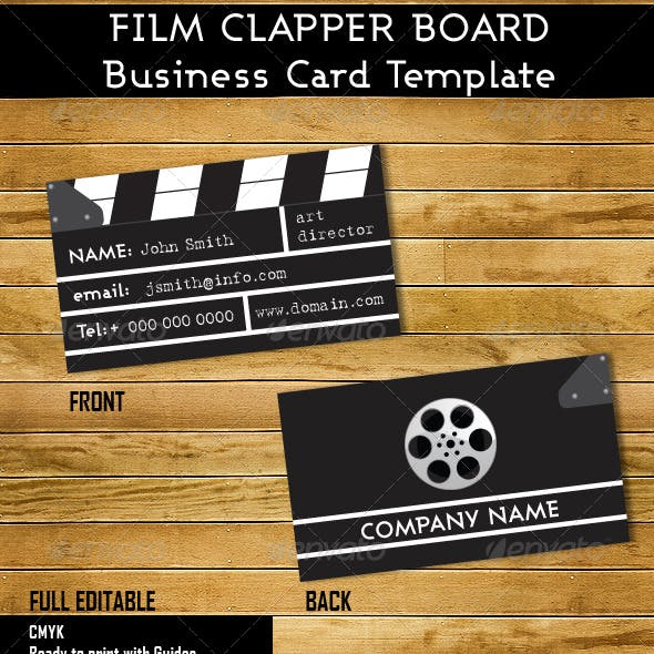 Clapper Board Business Card Template