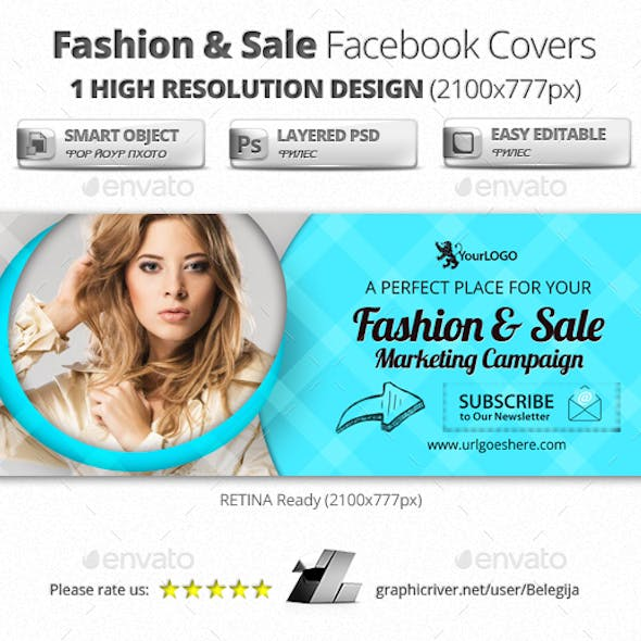 Fashion & Sale Facebook Cover