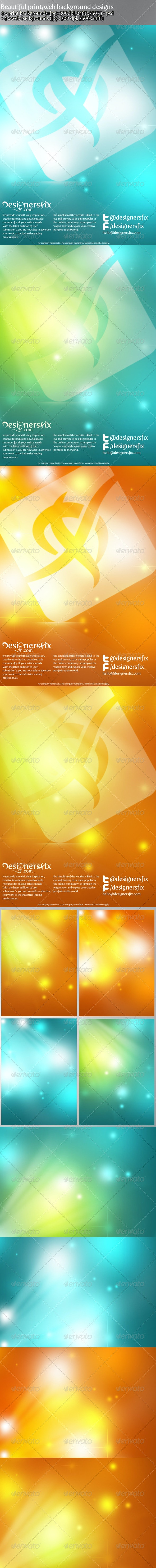 Soft Abstract Print & Web Background / Template - Graphics