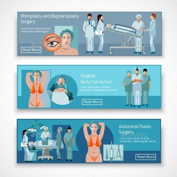 Plastic Surgery Concept 4 Flat Icons Square