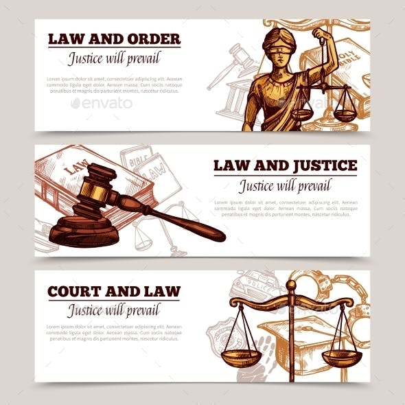 Horizontal Law Banners