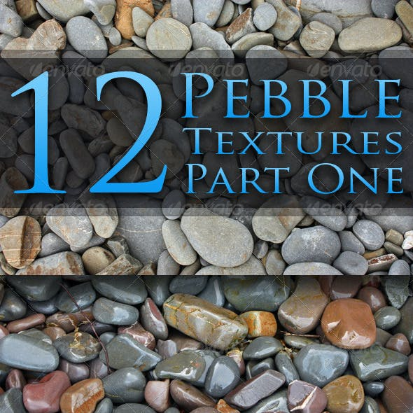 12 Pebble Textures - Pack One