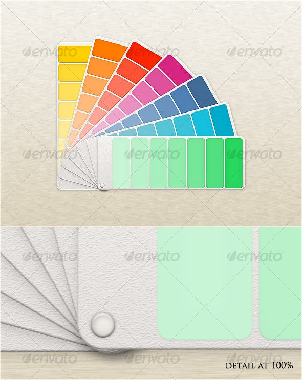 Fan Color Chart Mock-Up - Miscellaneous Product Mock-Ups