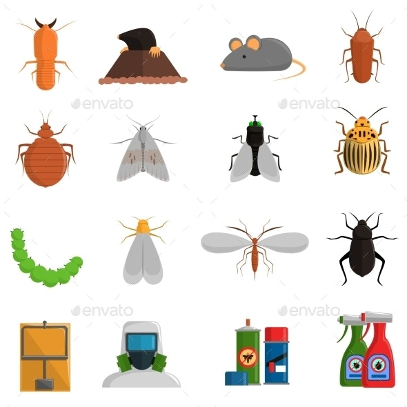 Pest Icons Set - Animals Characters