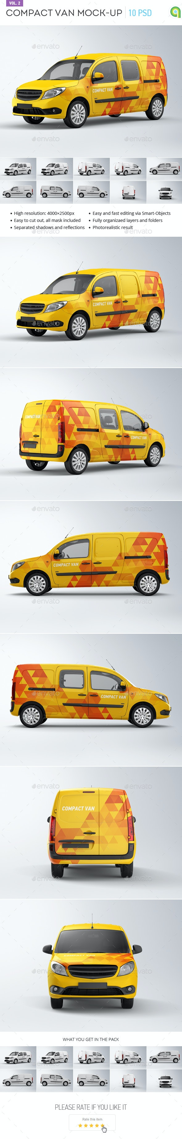 Compact Van Mock-up vol.2 - Vehicle Wraps Print