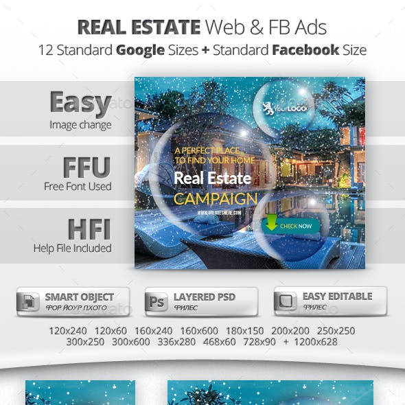 Real Estate Web & Facebook Banners