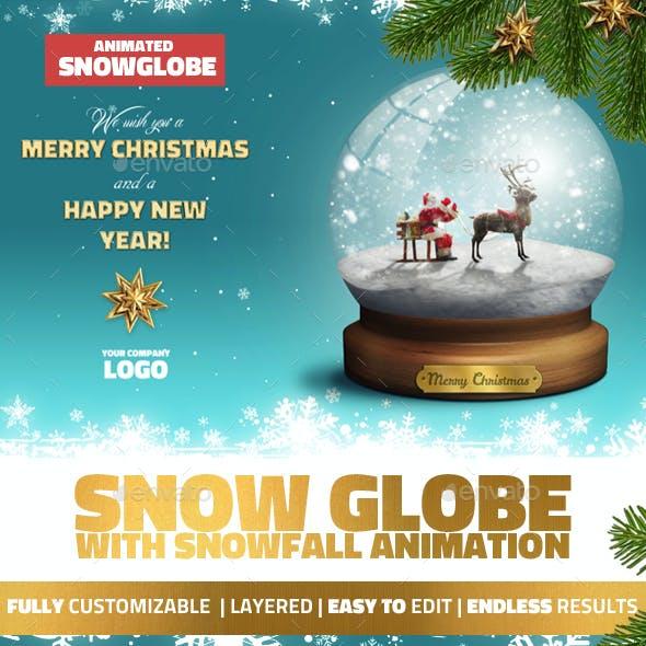 Snow Globe Christmas Mockup with GIF Animation