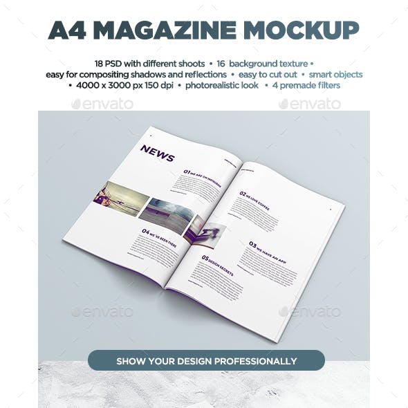 A4 Magazine MockUp vol.2