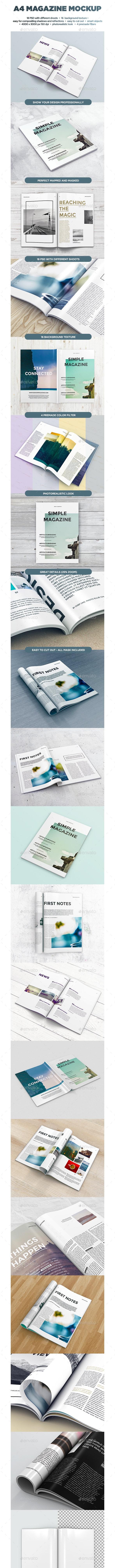 A4 Magazine MockUp vol.2 - Magazines Print