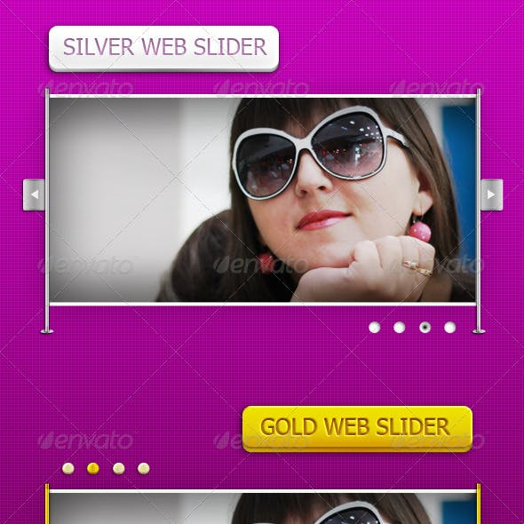 Silver and Gold Web Sliders