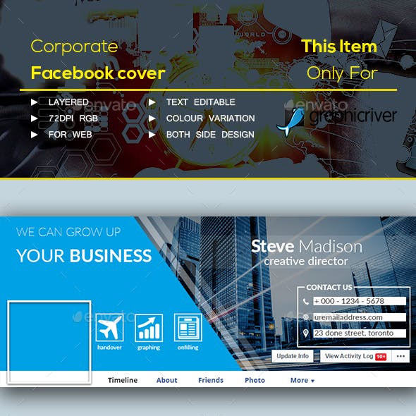 corporate Facebook cover page
