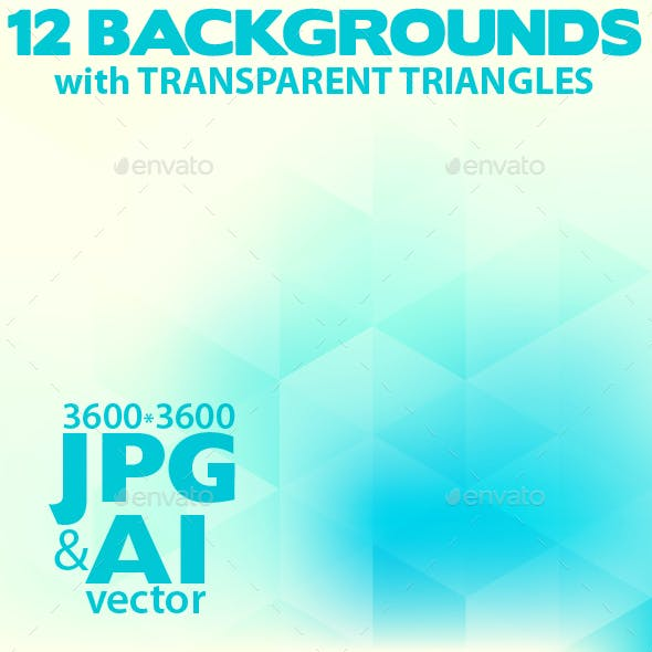 Abstract Backgrounds with Transparent Triangles
