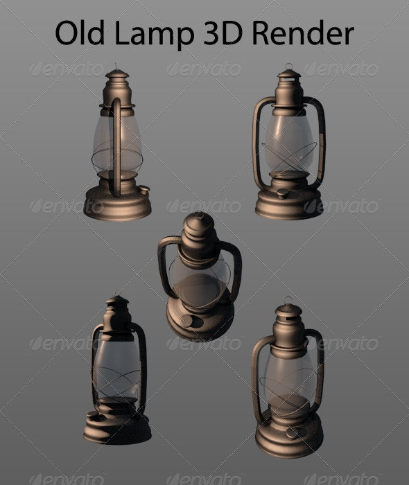 Old Lamp - Objects 3D Renders