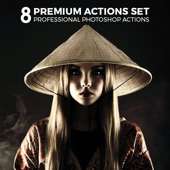 8 Premium Actions Set
