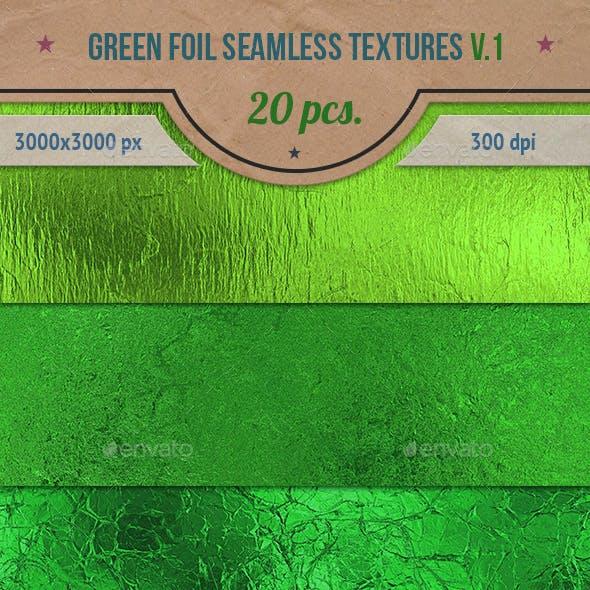 Green Foil Seamless Textures Pack v.1