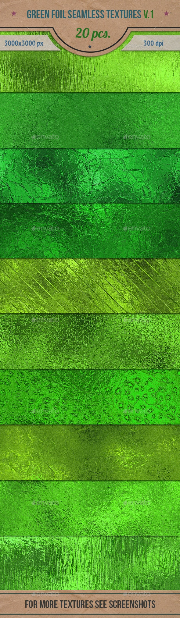 Green Foil Seamless Textures Pack v.1 - Textures