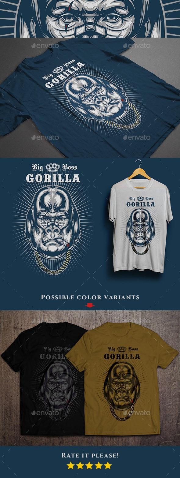 Big Boss Gorilla T-shirt - Funny Designs