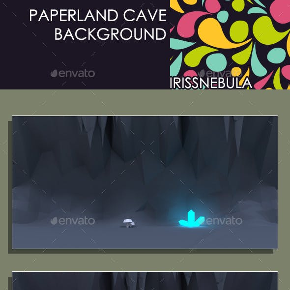 Paperland Cave Game Background