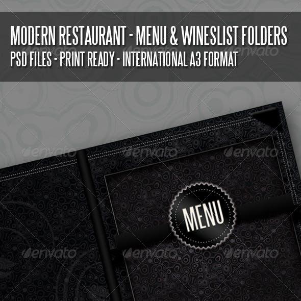 Modern Restaurant - Menu And Wineslist Covers