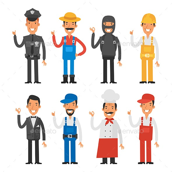 People of Different Professions - People Characters