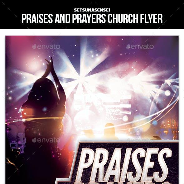 Praises and Prayers Church Flyer