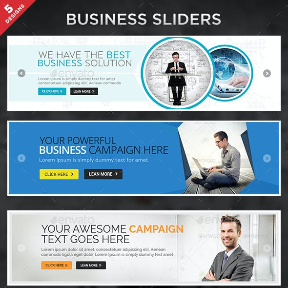 Business Sliders - 5 Designs