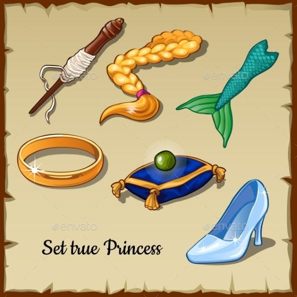 Set Of Six Specific Items For a True Princess