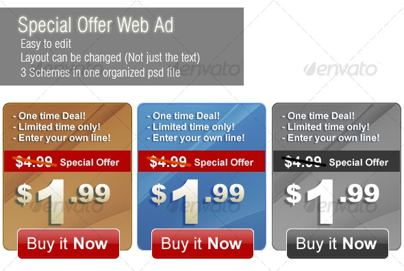 Special Offer Web Banner - Web Elements