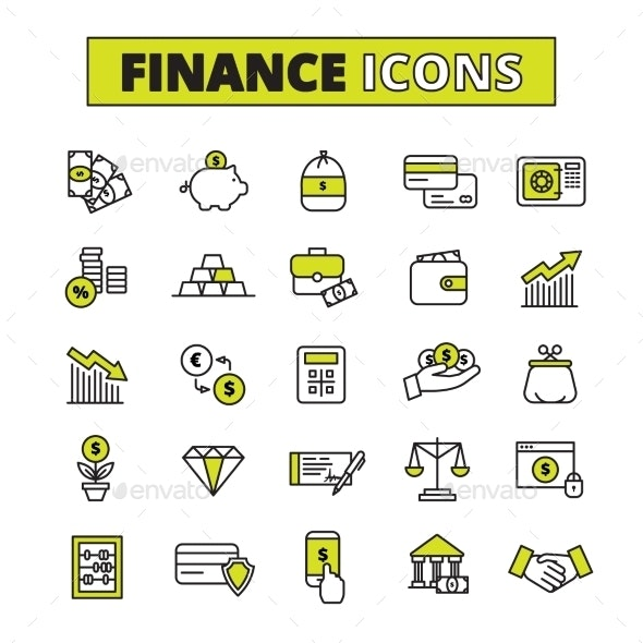 Finance Icons Set Line