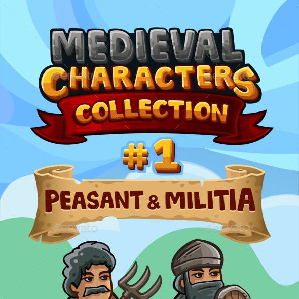 Medieval Game Sprites Characters Collection #1
