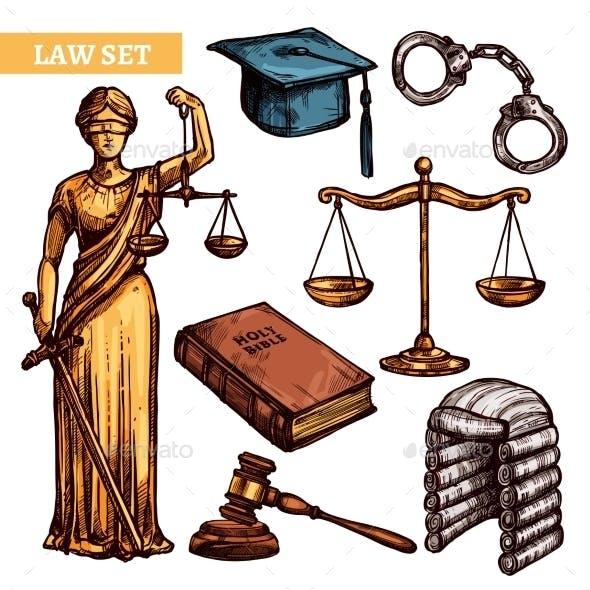 Decorative Law Set