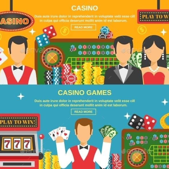 Casino and Gambling Banners Set