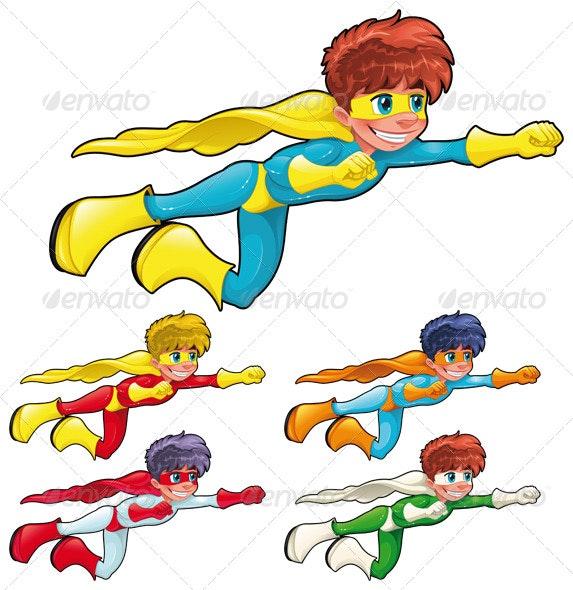 Young superheroes - Characters Vectors