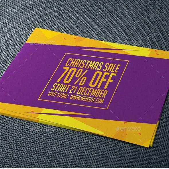 Christmas Sale Postcard